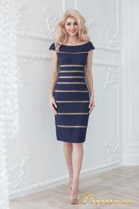 Коктейльное платье 16002 navy-nude. Цвет синий. Вид 1