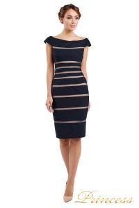 Коктейльное платье 16002 dark-navy. Цвет чёрный. Вид 1