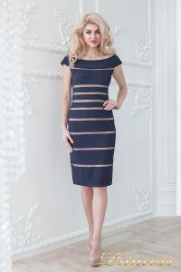 Коктейльное платье 16002 navy-nude. Цвет синий. Вид 2