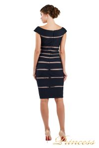 Коктейльное платье 16002 dark-navy. Цвет чёрный. Вид 3