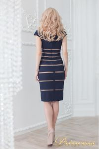 Коктейльное платье 16002 navy-nude. Цвет синий. Вид 3