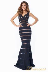 Вечернее платье 16003 dark-navy. Цвет чёрный. Вид 1