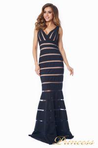 Вечернее платье 16003 dark-navy. Цвет чёрный. Вид 3