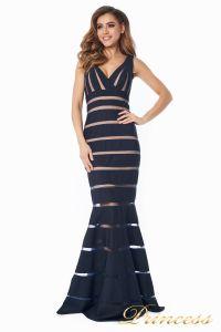 Вечернее платье 16003 dark-navy. Цвет чёрный. Вид 4