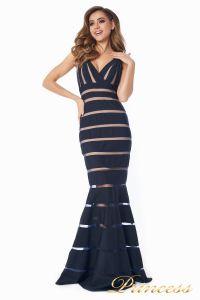 Вечернее платье 16003 dark-navy. Цвет чёрный. Вид 5