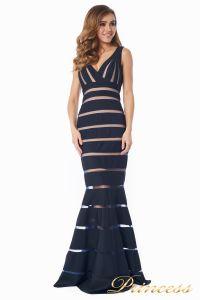 Вечернее платье 16003 dark-navy. Цвет чёрный. Вид 6