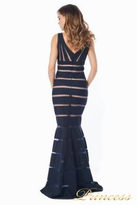 Вечернее платье 16003 dark-navy. Цвет чёрный. Вид 7