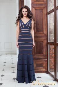 Вечернее платье 16003 navy. Цвет синий. Вид 2