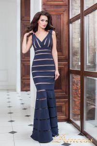 Вечернее платье 16003 navy. Цвет синий. Вид 1