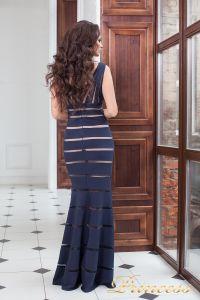 Вечернее платье 16003 navy. Цвет синий. Вид 3