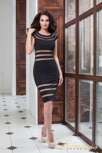 Коктейльное платье 16026 black. Цвет чёрный. Вид 2