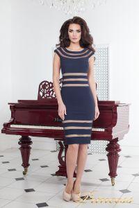 Коктейльное платье 16026 navy. Цвет синий. Вид 1