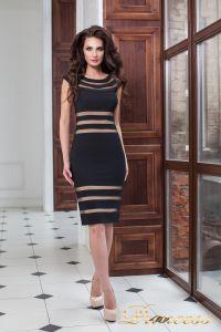 Коктейльное платье 16026 black. Цвет чёрный. Вид 3