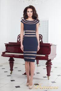 Коктейльное платье 16026 navy. Цвет синий. Вид 2