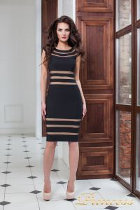 Коктейльное платье 16026 black. Цвет чёрный. Вид 1
