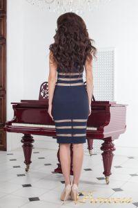 Коктейльное платье 16026 navy. Цвет синий. Вид 3