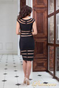 Коктейльное платье 16026 black. Цвет чёрный. Вид 4