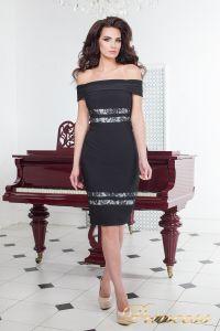 Коктейльное платье 16071 black. Цвет чёрный. Вид 1