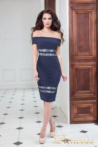 Вечернее платье 16071 navy . Цвет синий. Вид 2