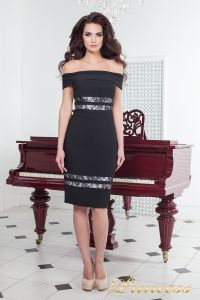 Коктейльное платье 16071 black. Цвет чёрный. Вид 2