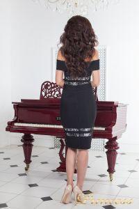Коктейльное платье 16071 black. Цвет чёрный. Вид 3