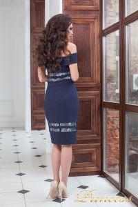 Вечернее платье 16071 navy . Цвет синий. Вид 3
