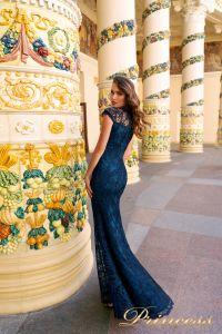 Вечернее платье NF-1628 navy. Цвет синий королевский . Вид 2