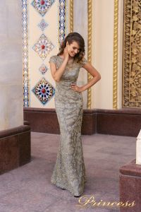 Вечернее платье NF-1628-grey. Цвет серый. Вид 1