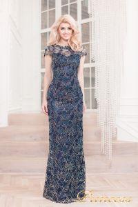Вечернее платье 1628 navy gold. Цвет синий. Вид 2