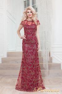 Вечернее платье 1628 wine gold. Цвет красный. Вид 1