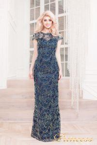 Вечернее платье 1628 navy gold. Цвет синий. Вид 1