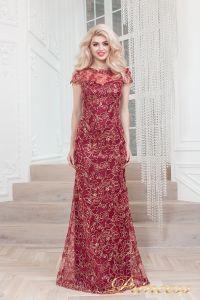 Вечернее платье 1628 wine gold. Цвет красный. Вид 2