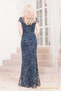 Вечернее платье 1628 navy gold. Цвет синий. Вид 3