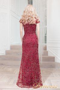 Вечернее платье 1628 wine gold. Цвет красный. Вид 3