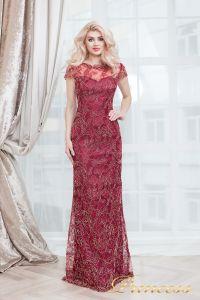 Вечернее платье 1628 wine gold. Цвет красный. Вид 4