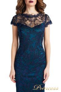 Вечернее платье 1628 dark-navy. Цвет синий. Вид 3