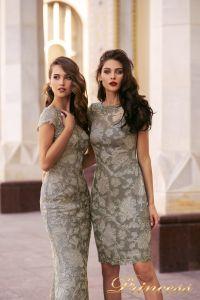 Коктейльное платье NF-1645-grey. Цвет серый. Вид 3