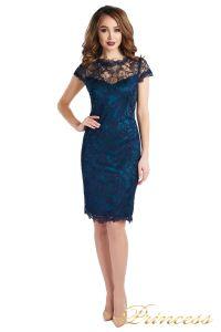 Коктейльное платье 1645 dark-navy. Цвет синий. Вид 2