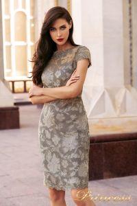 Коктейльное платье NF-1645-grey. Цвет серый. Вид 1
