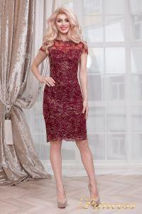 Коктейльное платье 1645 wine - gold. Цвет малиновый. Вид 5