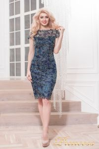 Коктейльное платье 1645 navy. Цвет синий. Вид 1