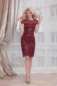 Коктейльное платье 1645 wine - gold. Цвет малиновый. Вид 3