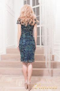 Коктейльное платье 1645 navy. Цвет синий. Вид 3