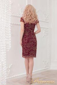 Коктейльное платье 1645 wine - gold. Цвет малиновый. Вид 4