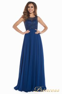 Вечернее платье 166N. Цвет синий. Вид 4
