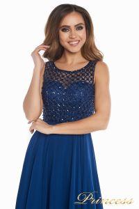 Вечернее платье 166N. Цвет синий. Вид 8