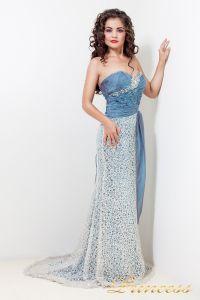 Вечернее платье 1697. Цвет синий. Вид 1