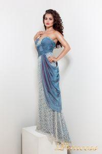 Вечернее платье 1697. Цвет синий. Вид 2