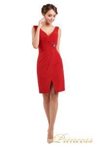 Коктейльное платье 1701 red . Цвет красный. Вид 1