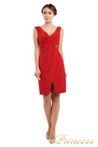 Коктейльное платье 1701 red . Цвет красный. Вид 2